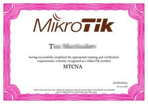 Сертификат микротик